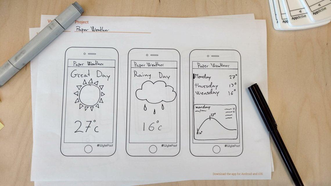 Paso 1 para pasar tu idea a un app. Dibuja tu idea de app